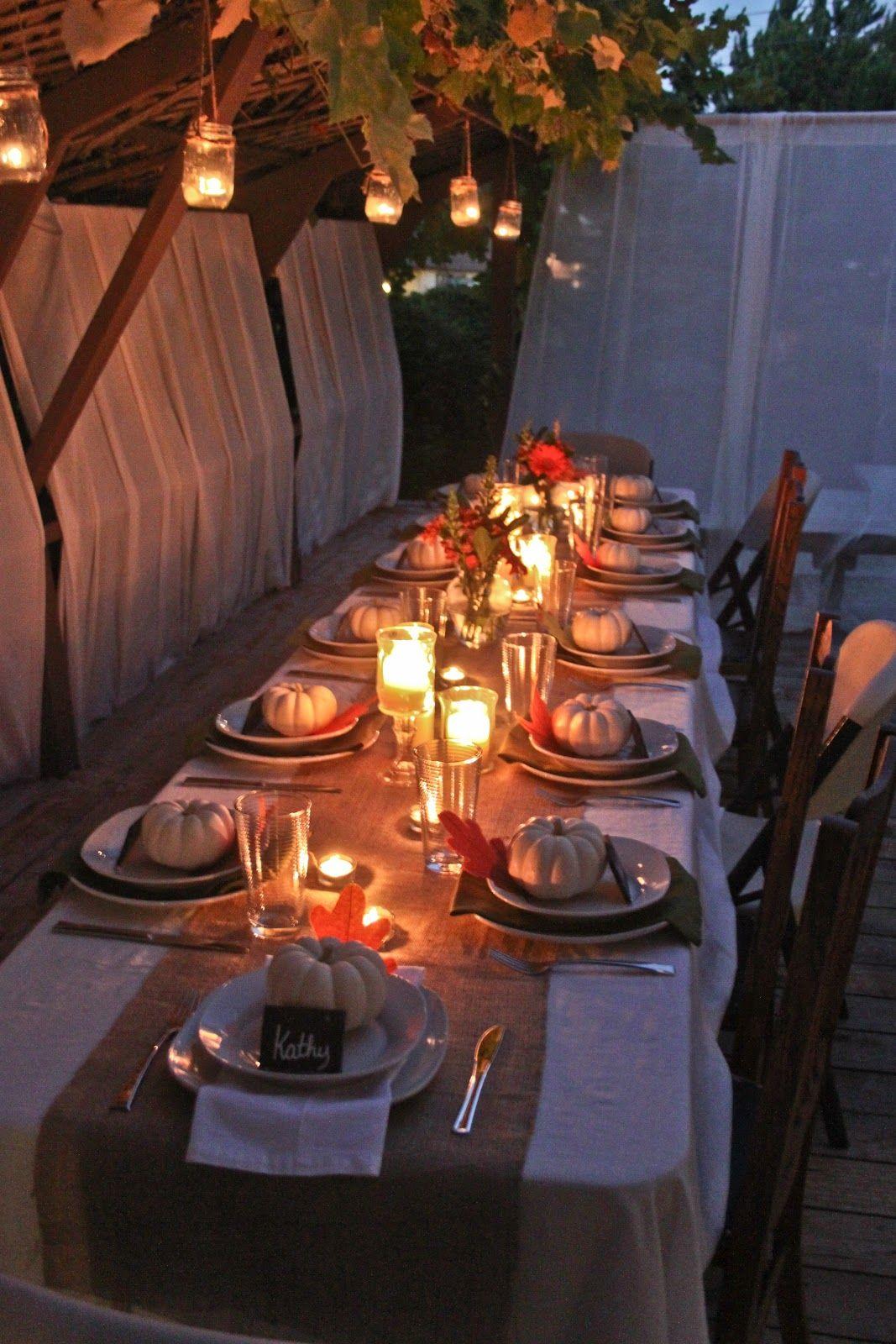 Autumn Dinner Party in 2019   Fall dinner, Outdoor dinner ...