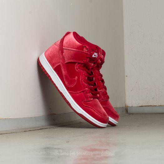 Nike Dunk High Premium SB Red Velvet; Gym Red; Gym Red White