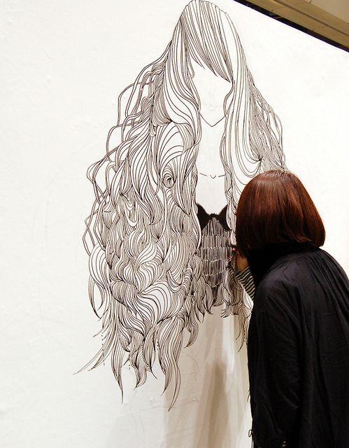Illustration in progress 絵描き中 Design Festa