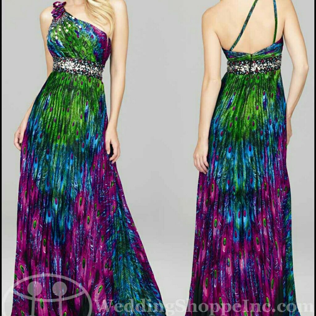 Greenpeacock colored prom dress green peacock and products