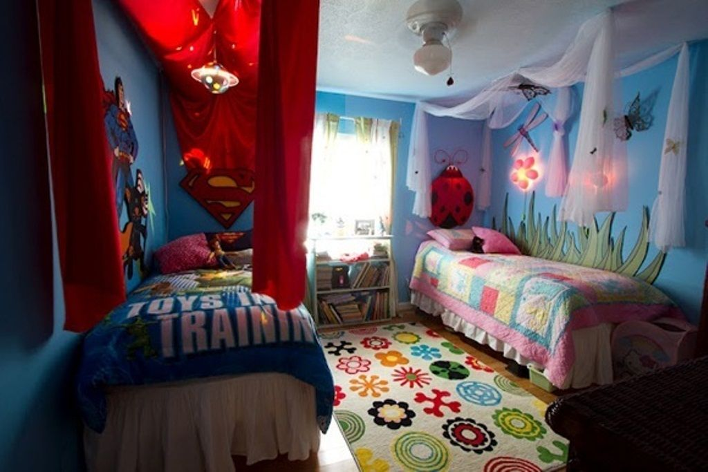 Childrens Bedroom Ideas Boy Girl Sharing Simple Inspiration