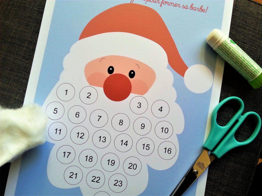 ☆ GRATUIT ☆ Calendrier de l'avent Père-Noël #calendrierdelaventfaitmaison