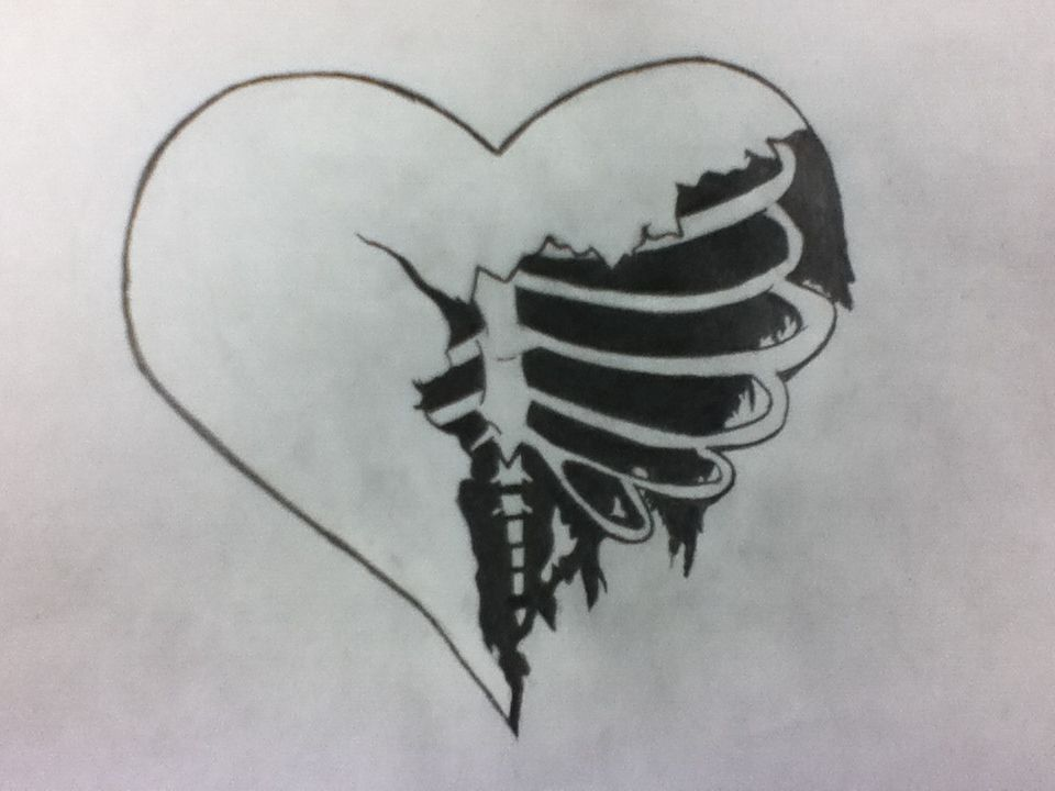 Broken Heart Drawings Quote Addicts Drawing