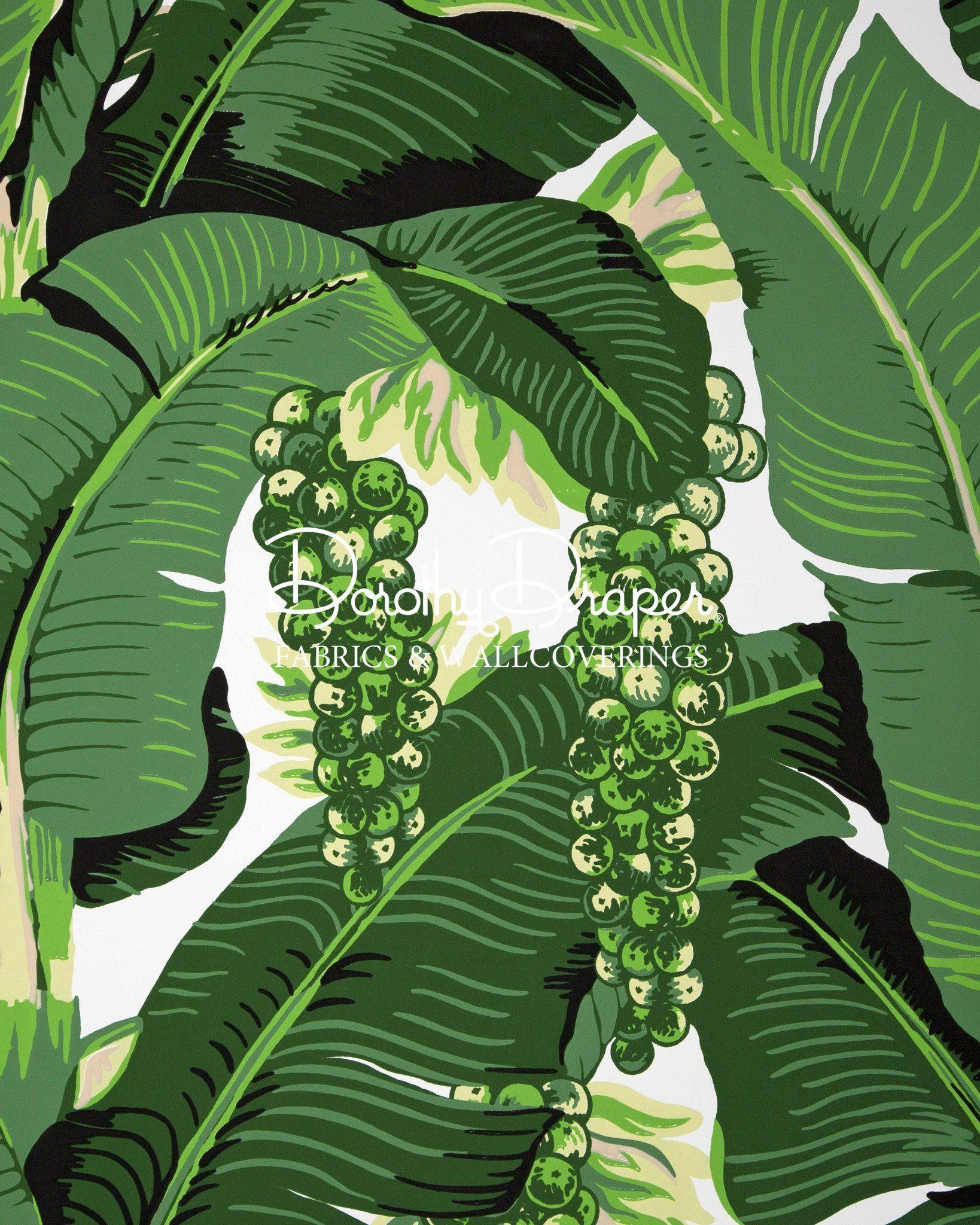 BRAZILLIANCE FABRIC Leaf wallpaper, Banana leaf