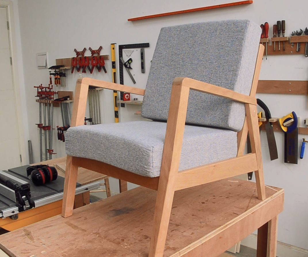 Making A Mid Century Modern Armchair Mid Century Modern Chair Mid Century Modern Armchair Modern Chairs