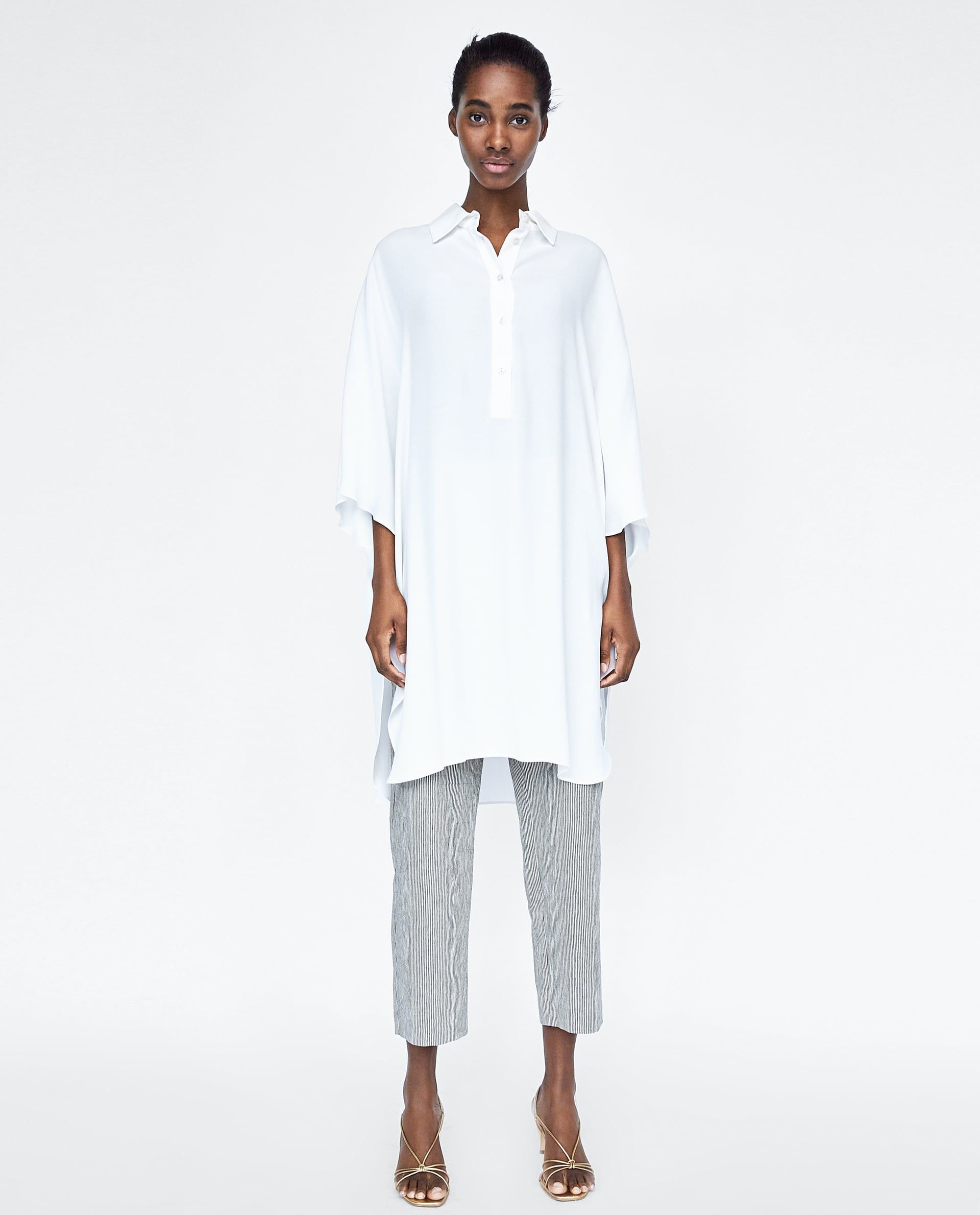 TÚnica Oversize With Images Oversized Tunic Zara Fashion