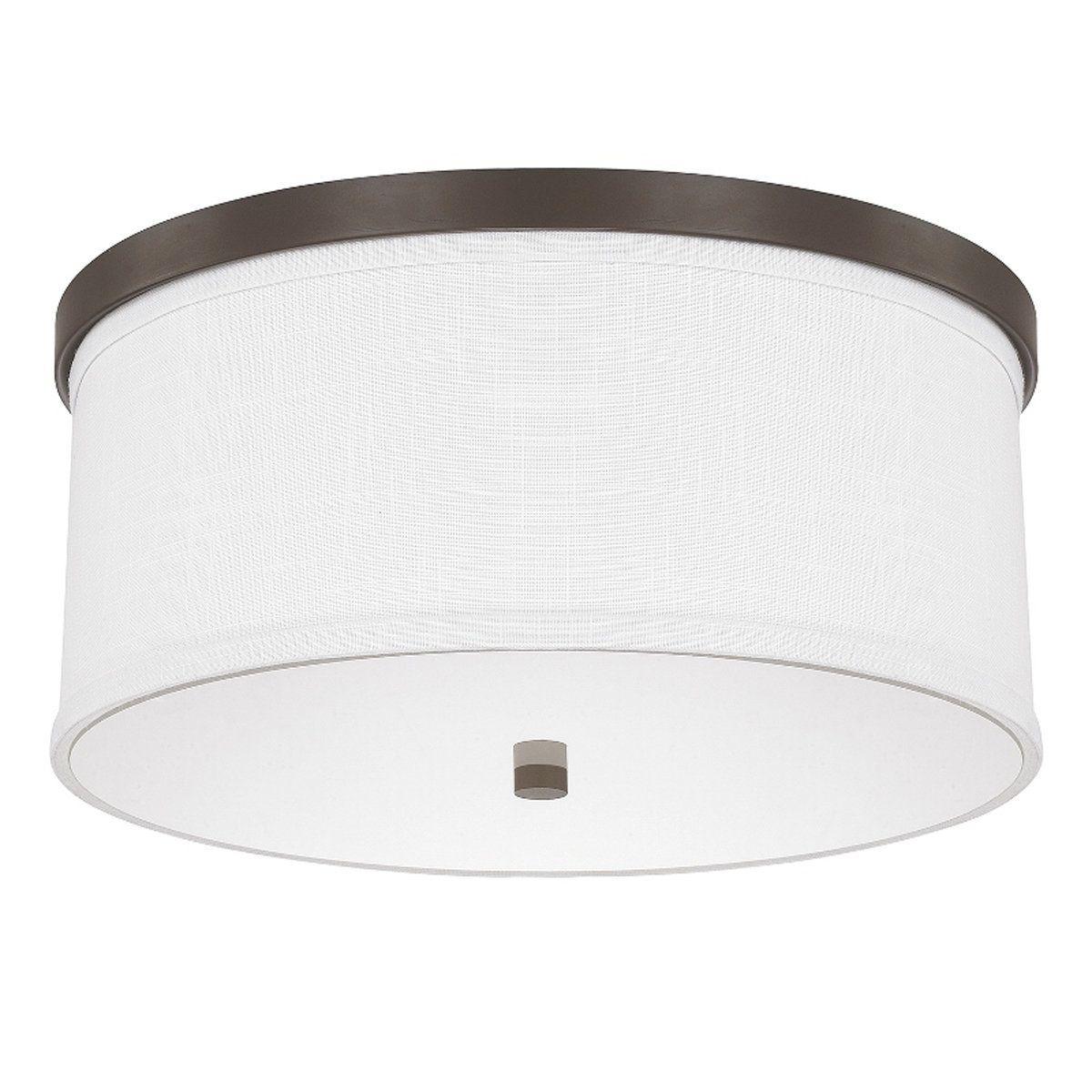 Springfield Linen Shade Ceiling Light Ceiling Lights Capital