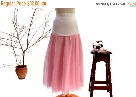 HOLIDAY SALE Petticoat pink with 4 layers of tulle dress