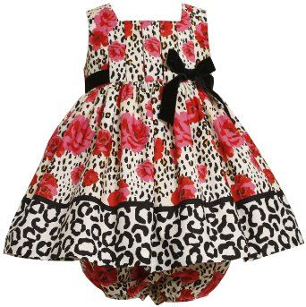 Amazon.com: Bonnie Baby Baby-Girls Newborn Pleated Bodice Empire Waist Dress With Roses Print: Clothing
