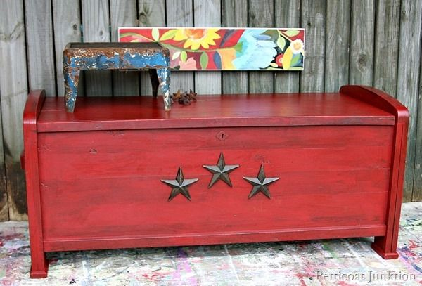 How To Antique Furniture In Minutes With This Simple Trick Red Furniture Painted Furniture Colors Paint Furniture