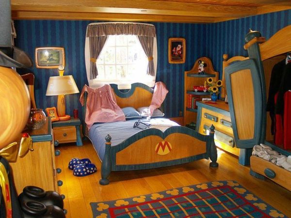 125 Großartige Ideen Zur Kinderzimmergestaltung   Kinder Schlafzimmer In  Blau Und Gold Teppich