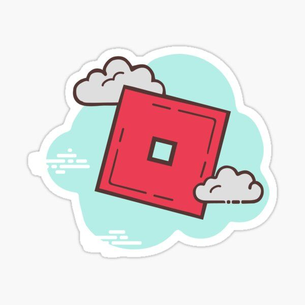 roblox o block minimal cartoon cloud graphic Stick