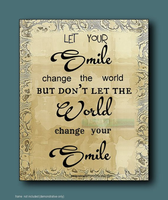 SMILE change WORLD Word Art for your Walls by LabradorHorizons ...