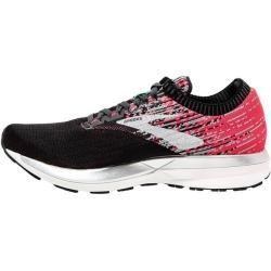 Brooks Damen Laufschuhe Ricochet, Größe 37 ½ in Schwarz/Pink/Grau/Türkis/Silber/Weiß, Größe 37 ½ in