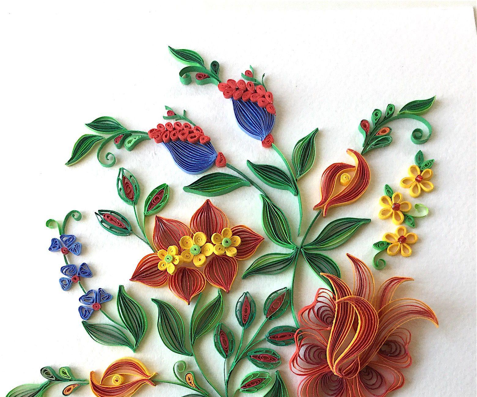 """fantasy flowers"" quilling design  quilling flower"
