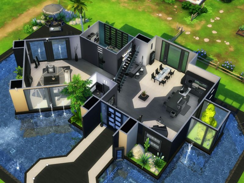 This Contemporary House Is Located In Willow Creek On A 40x30 Lot