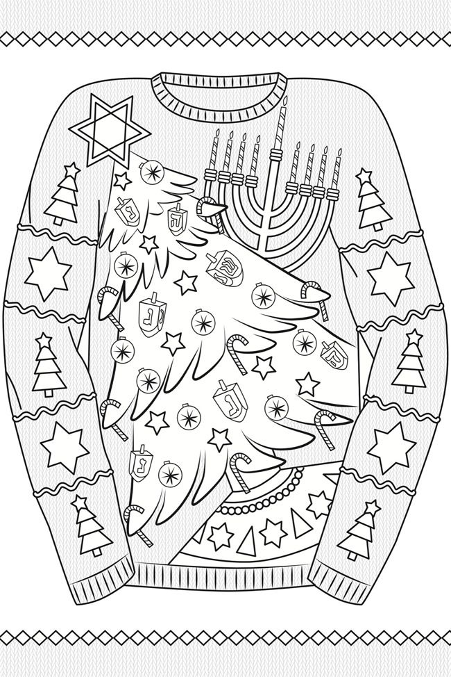 creative haven ugly holiday sweaters coloring book by ellen christiansen kraft coloring page 4