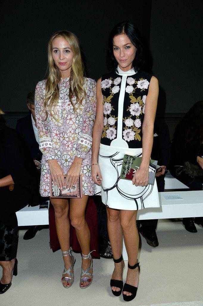 Giambattista Valli : Front Row - Paris Fashion Week Womenswear Spring/Summer 2016 - Leigh Lezark, Harley Viera-Newton