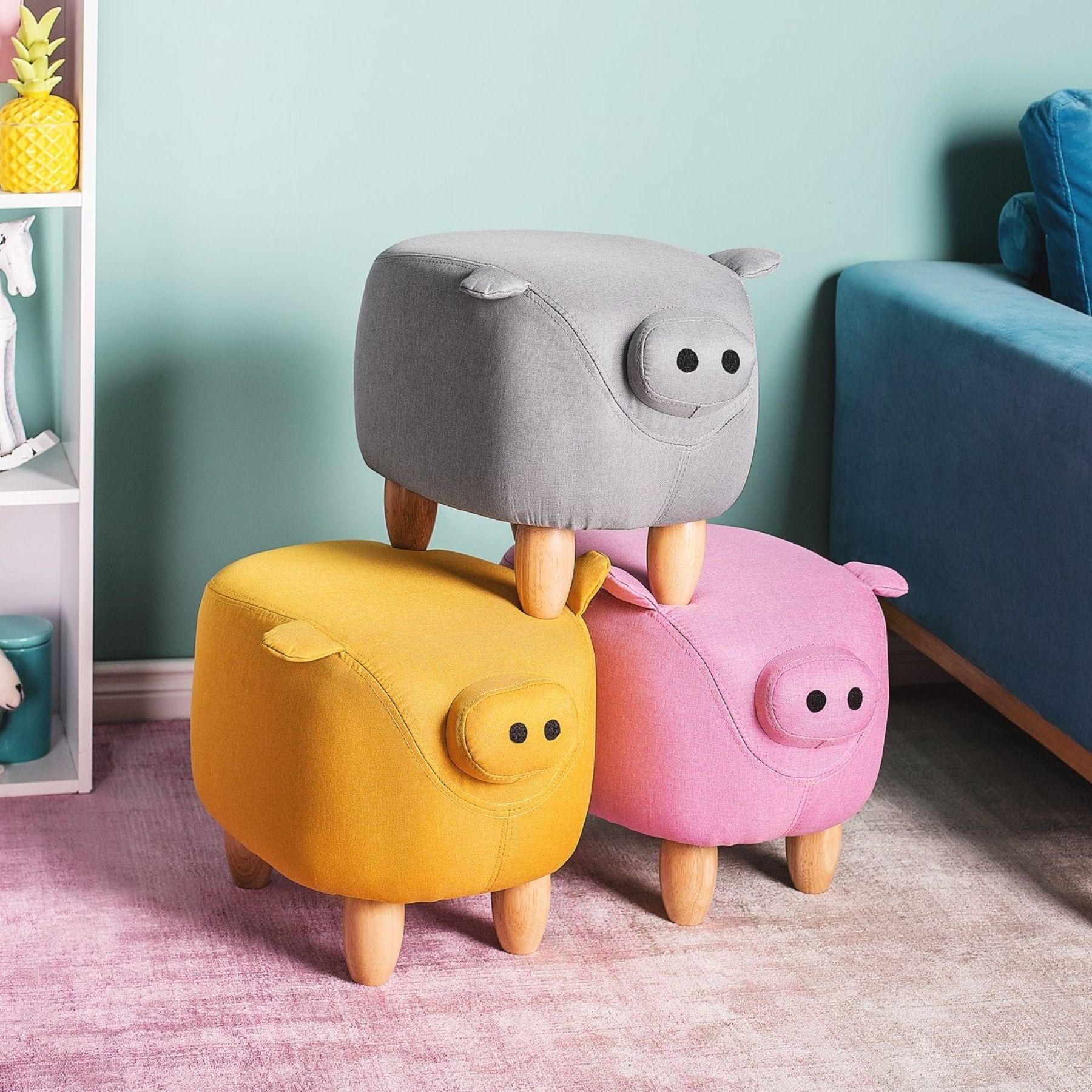 Pouf Animale Piggy Pouf Sedie Da Soggiorno Sgabelli