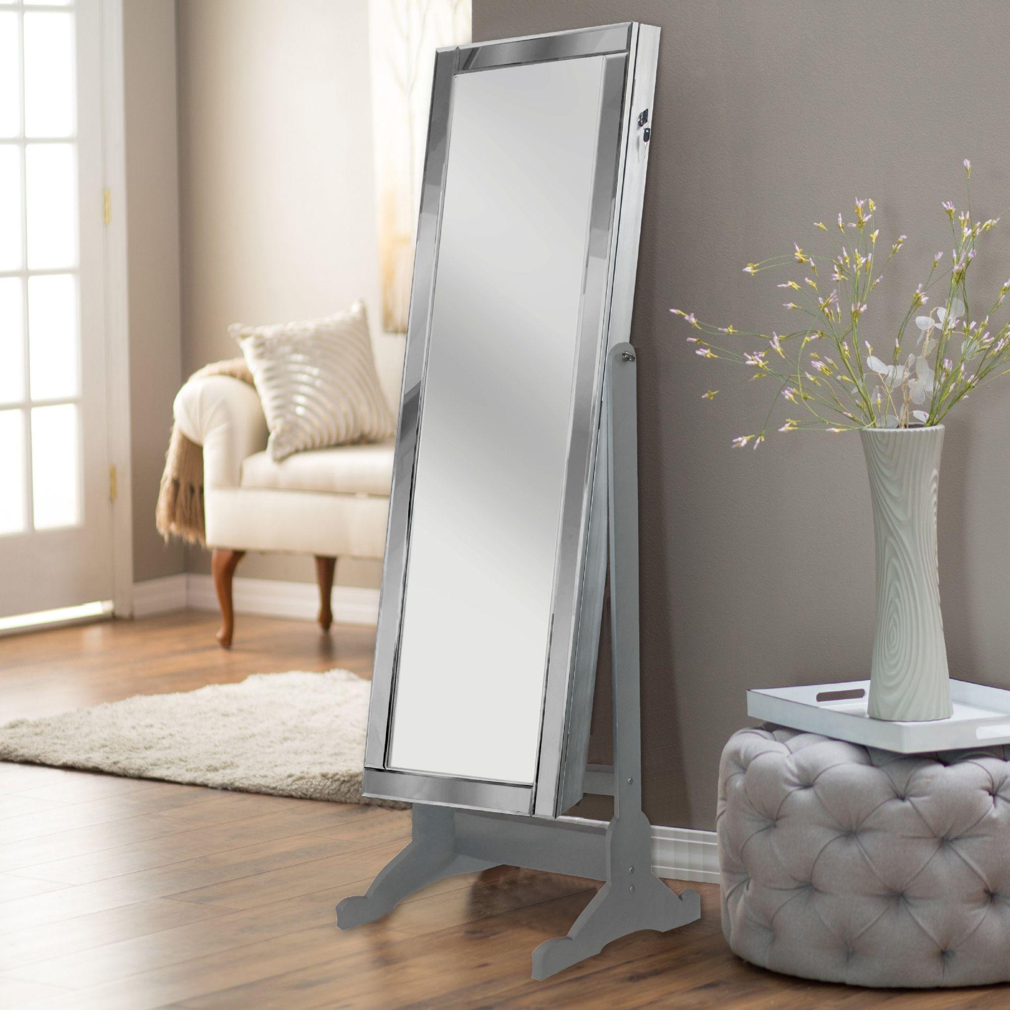 High Gloss White Full Length Mirror