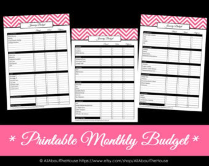 Finance Binder PDF Printable Pages INSTANT DOWNLOAD Budget - Download Budget Spreadsheet
