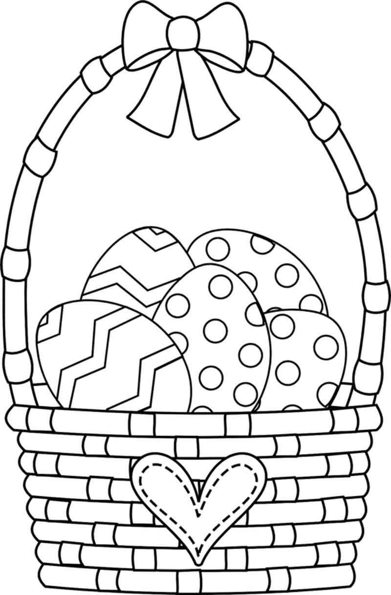 Easter Basket Coloring Pages Printables From Easter Coloring Pages