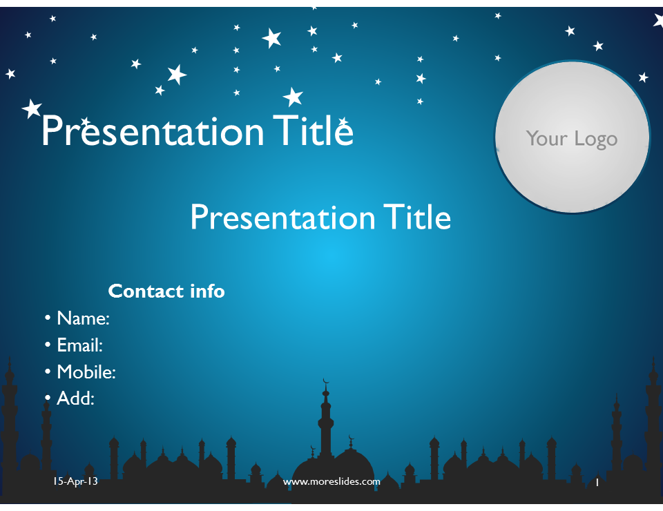 Download Editable Microsoft Power Point Presentation Islamic