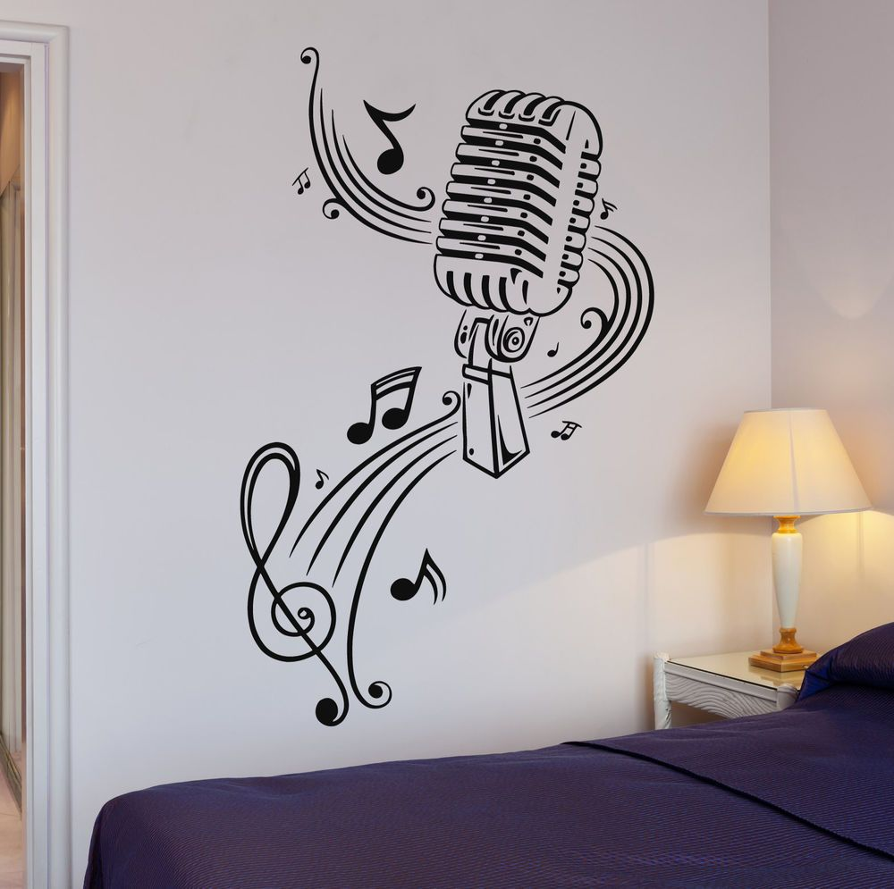 Details About Vinyl Decal Music Karaoke Microphone Sheet Great