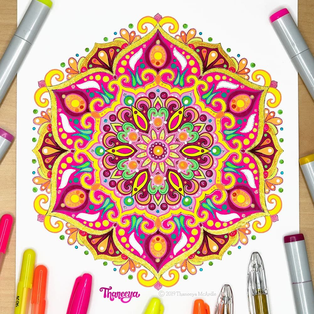 Detailed Mandala Coloring Pages Fun Printable Coloring Pages To