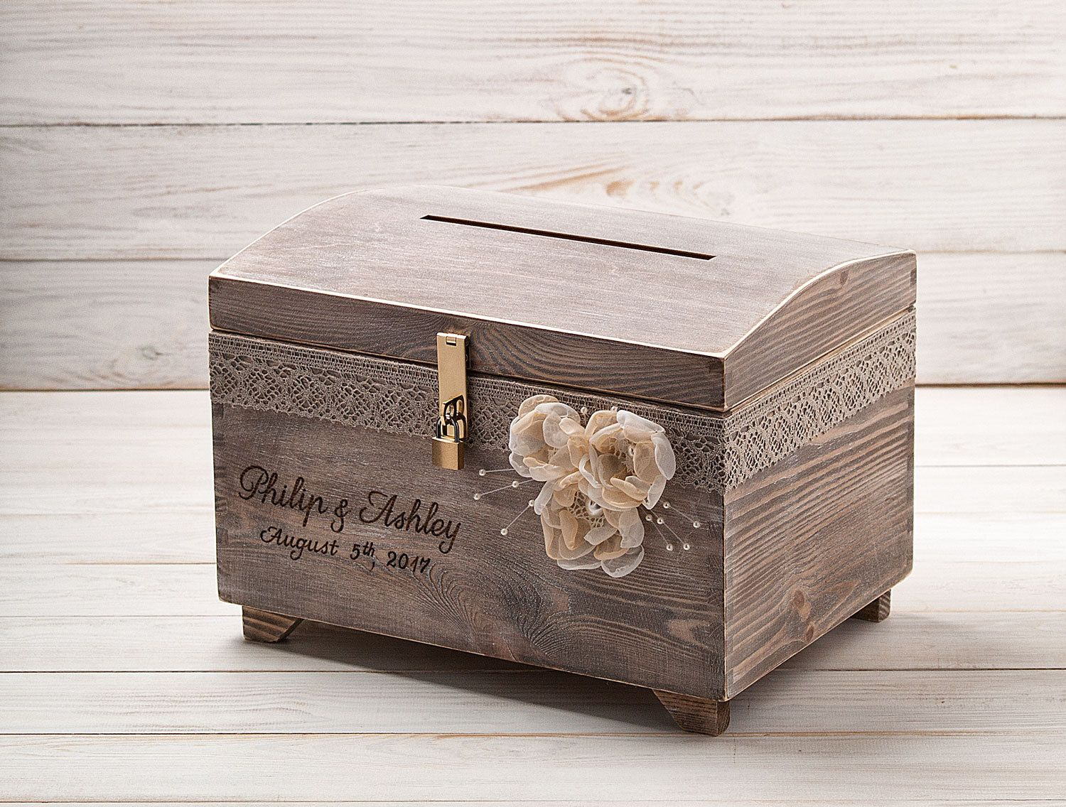 Personalized Card Box With Lock And Key Wedding Card Post Box Etsy Money Box Wedding Card Box Wedding Diy Card Box Wedding