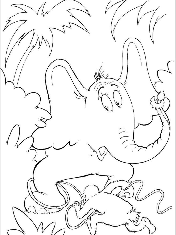 Horton Hears A Who Coloring Pages Image In 2020 Dr Seuss Coloring Pages Emoji Coloring Pages Super Coloring Pages