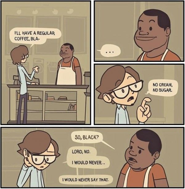 """""""I'll have a regular coffee.""""    [click on this image to find an excellent brief video and analysis of colorblind racism]   # Pin++ for Pinterest #"""