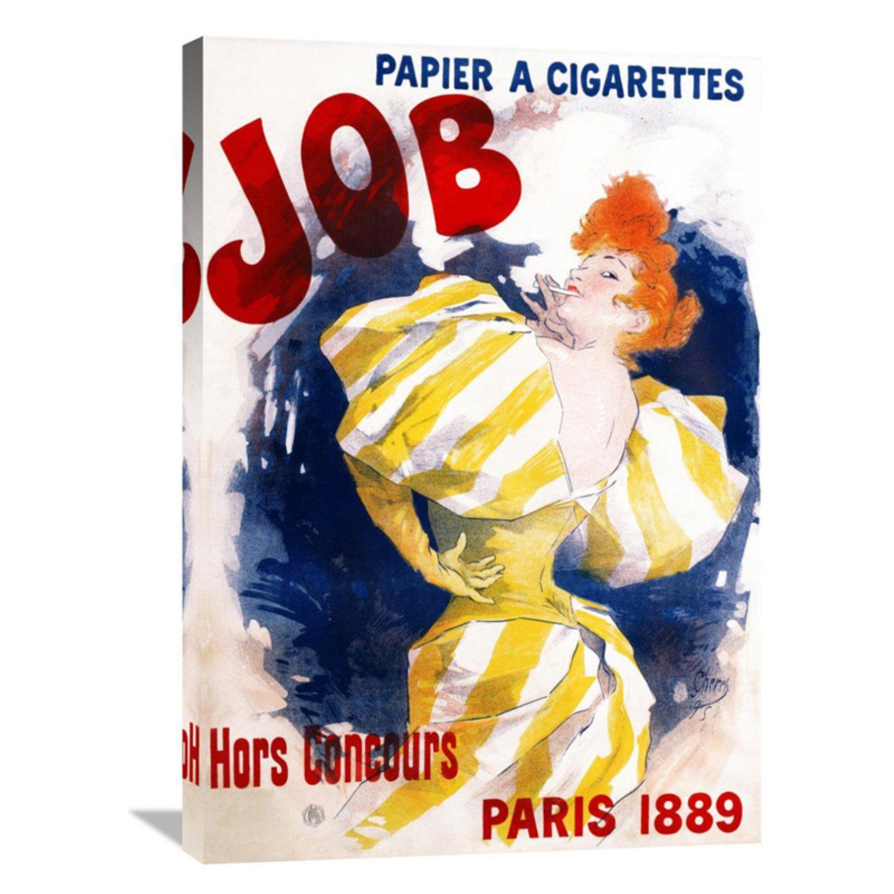 Global Gallery Job / Papier A Cigarettes Canvas Wall Art - GCS ...