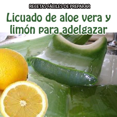 bajar de peso con aloe vera y limon