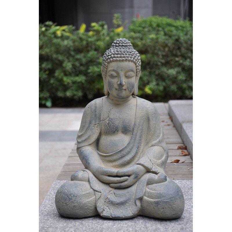 Tradgardsdekoration Buddah Sittande Tradgardsdekorationer