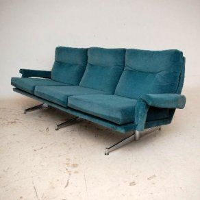 Retro Upholstered Chrome Sofa By Howard Keith Vintage 1960 S Metal Sofa Furniture Sofa