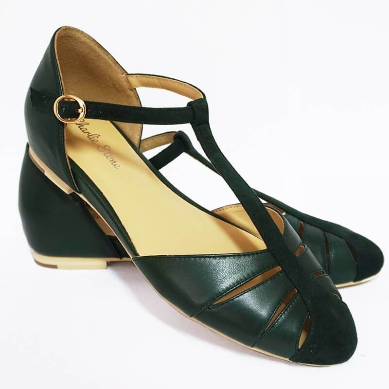 Buy The Charlie Stone Toscana Shoes Green Online In Australia Classic Vintage Inspired Flats Shop Retro Rocka Vintage Inspired Shoes Shoes Vintage Shoes
