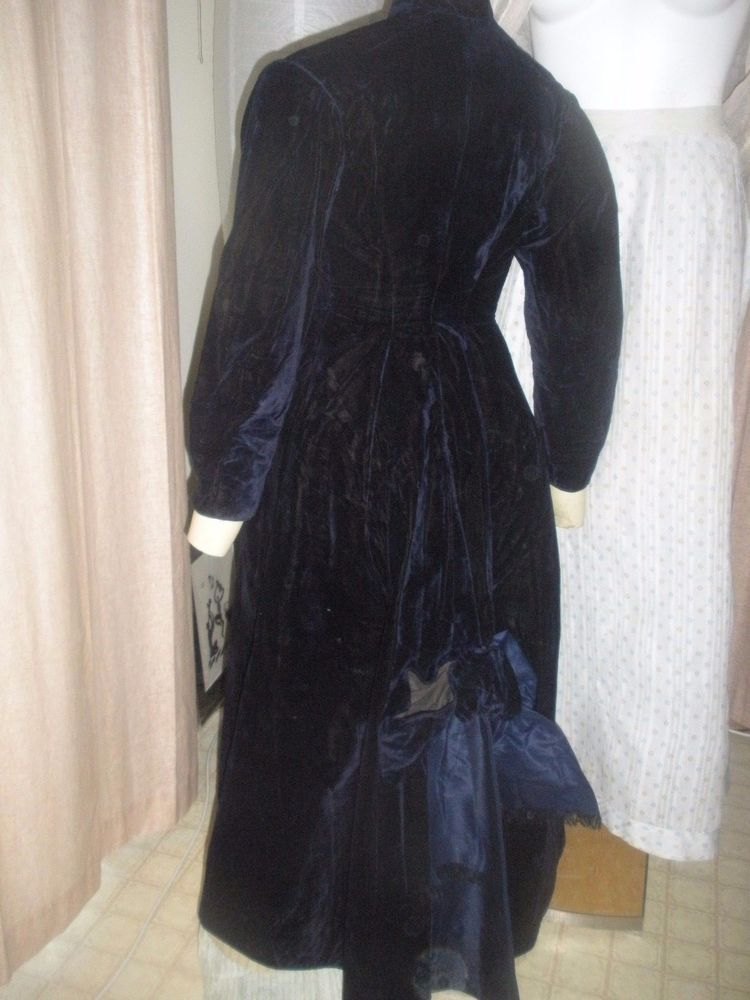 Luxurious Victorian Classics Blue Velvet Trench Coat Steampunk true Goth 1890 #Handmade #Peacoat #Formal