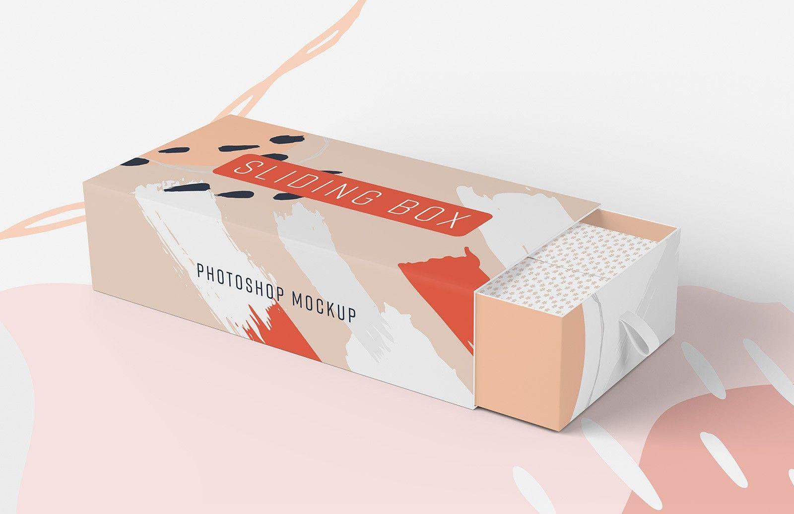 Download Sliding Box Packaging Mockup Packaging Mockup Box Mockup Free Packaging Mockup