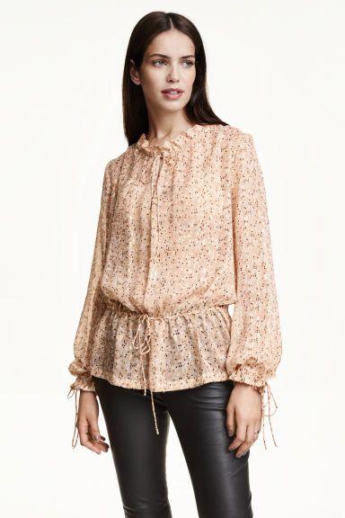 Blusa em seda brilhante | H&M