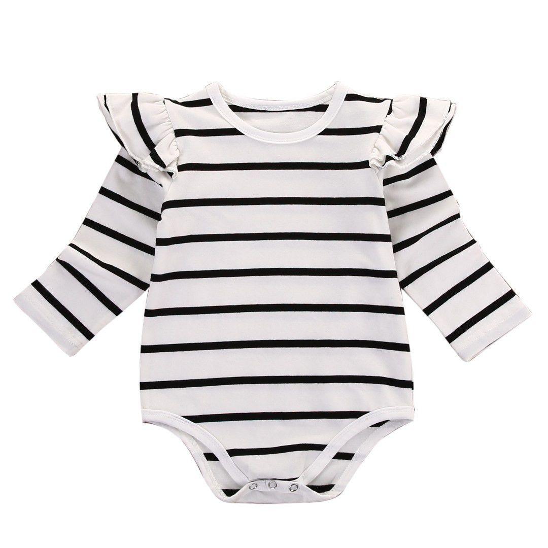 Jolie Striped baby bodysuit