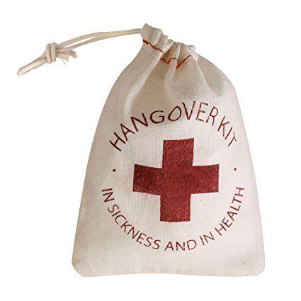Hangover Kit Set of 10 Muslin Bags Wedding Favor Bags Bachelor Bag Bachelorette Party Red Cross Cotton Muslin Drawstring Bags