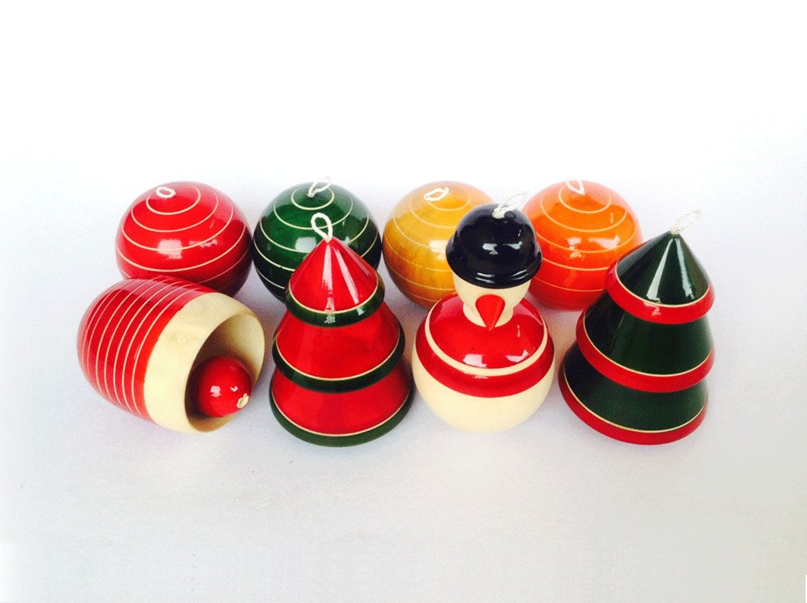 Christmas Decoration Ornaments, Handcrafted wooden