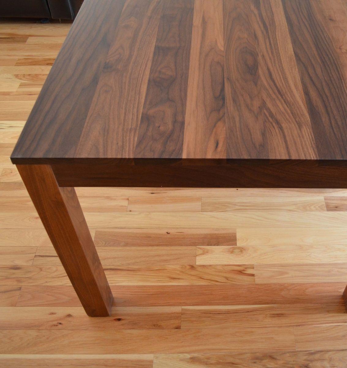 Black Walnut Kitchen Table Rectangular Custom Made Solid Dining Home