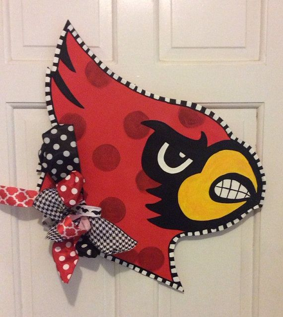 Louisville Cardinal Door Hanger By Theealleykat On Etsy With