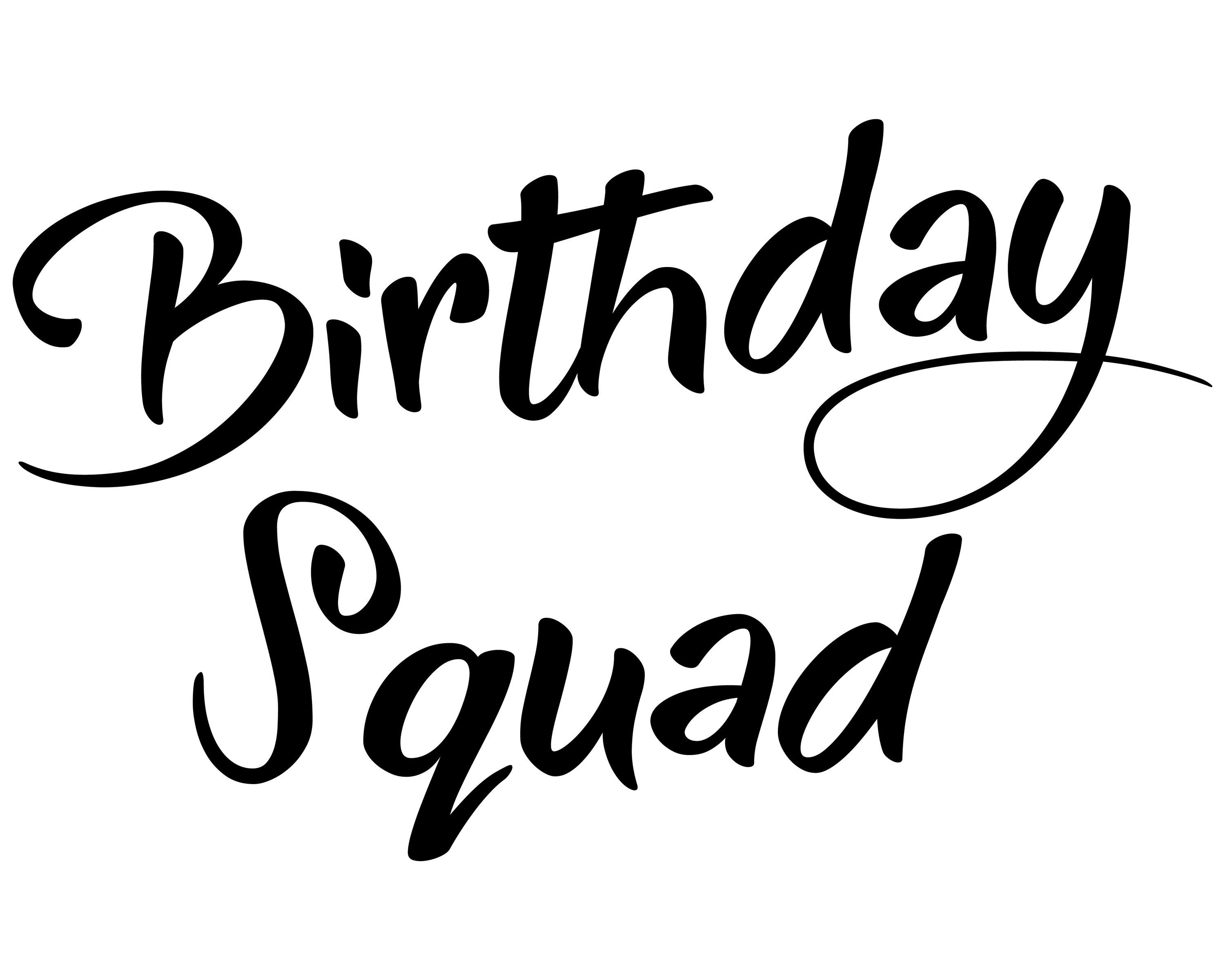 Birthday Squad Svg Birthday Girl Svg Birthday Quote T