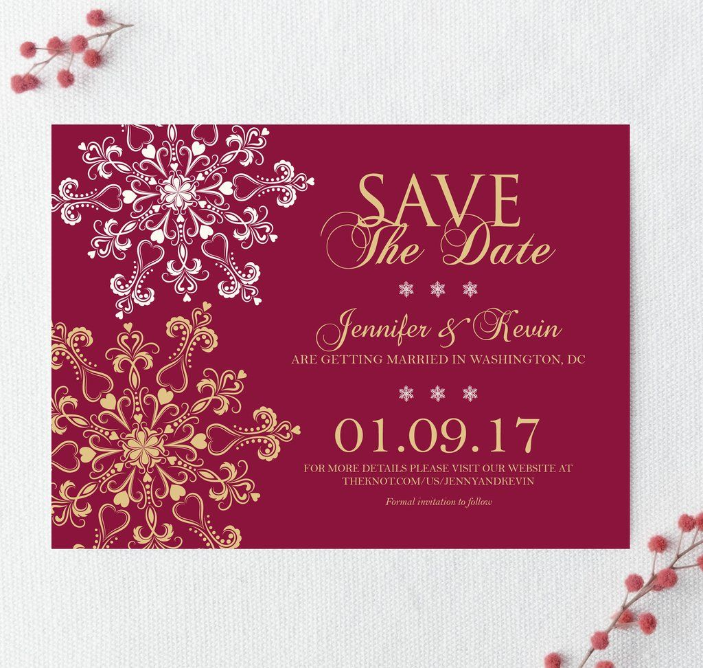 Winter Wonderland Save the Date | Holiday party invitations ...