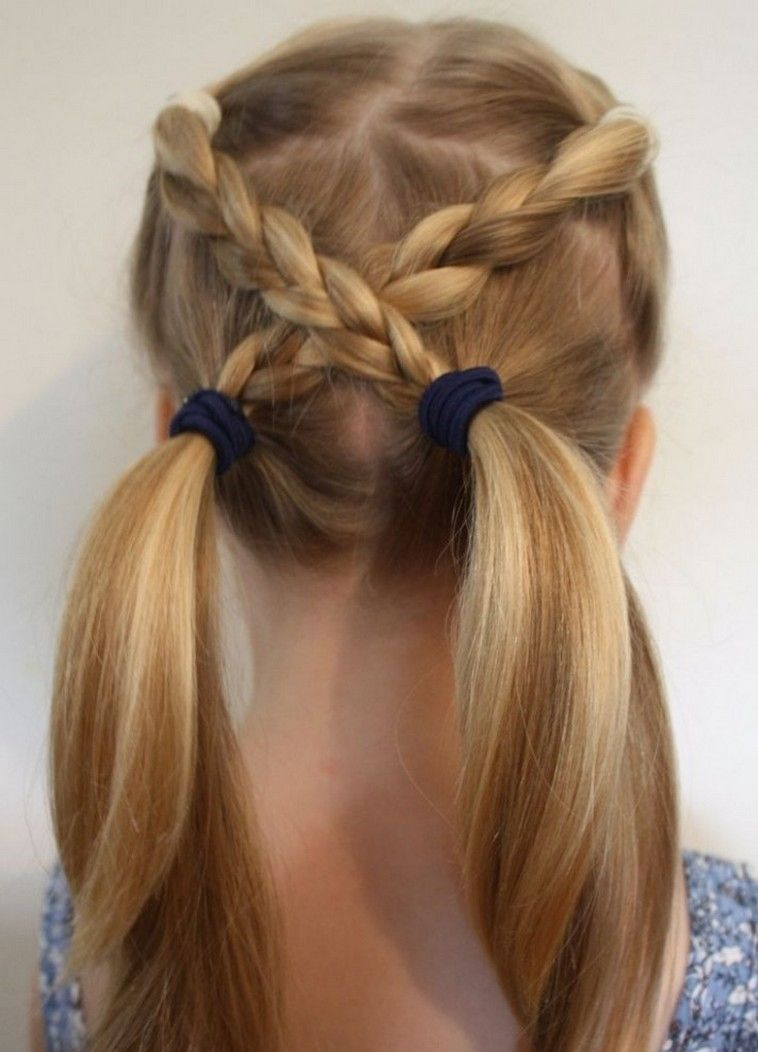 Coiffure Pour Petite Fille Idees Coiffure Facile Girls Hairstyles Easy Hair Styles Easy Hairstyles For Kids