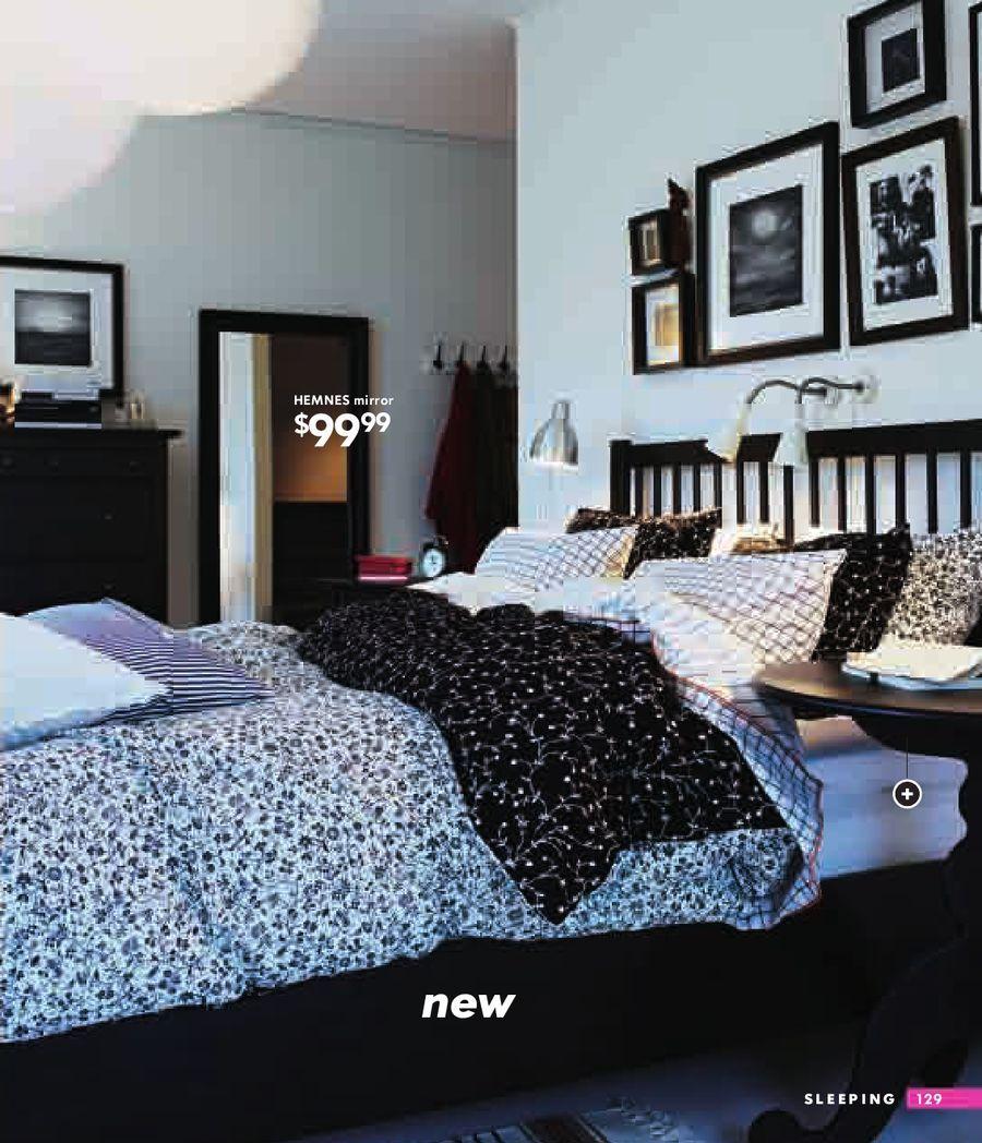 Ikea Hemnes Bed Frame Mirror Small Bedroom Inspiration Ikea