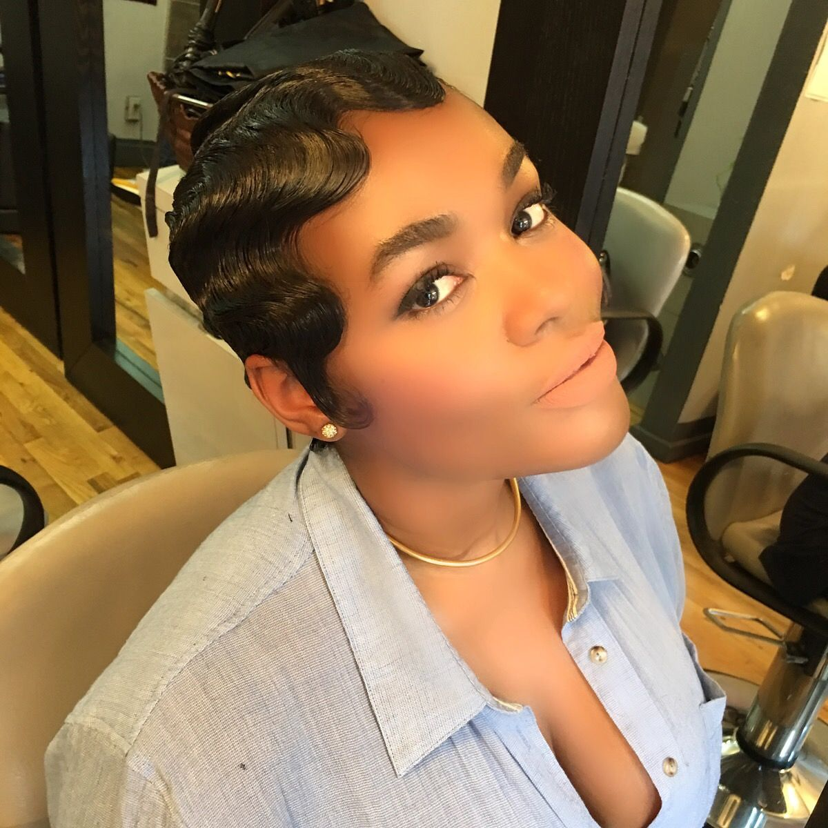 pin on finger wave updo